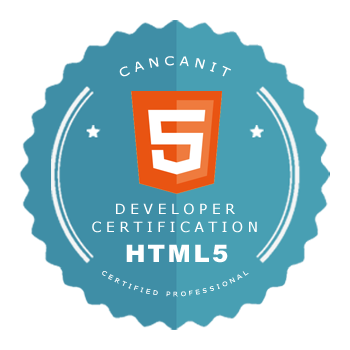 Developer certification badge - HTML5 developer - by Cancan IT