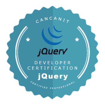 Developer certification badge - jQuery developer - by Cancan IT