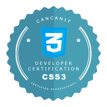 Developer certification badge - CSS3 developer - by Cancan IT