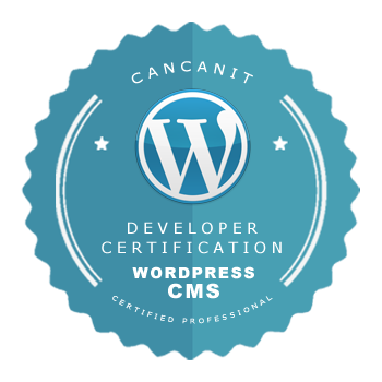 Developer certification badge - WordPress developer - by Cancan IT